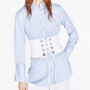 Zara criss cross fabric blogger corset belt